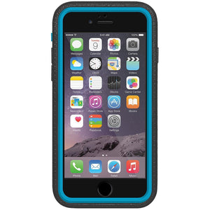 AMZER CRUSTA Rugged Case Black on Blue Shell With Tempered Glass for iPhone 6 Plus