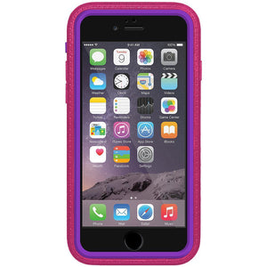 AMZER CRUSTA Rugged Case Magenta on Purple Shell With Tempered Glass for iPhone 6 Plus