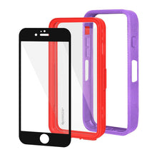 Load image into Gallery viewer, AMZER CRUSTA Rugged Case Purple on Red Shell With Tempered Glass for iPhone 6 Plus
