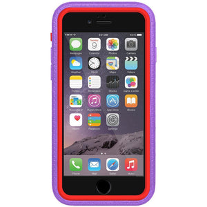 AMZER CRUSTA Rugged Case Purple on Red Shell With Tempered Glass for iPhone 6 Plus