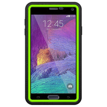 Load image into Gallery viewer, AMZER CRUSTA Rugged Case Black on Green Shell Tempered Glass with Holster for Samsung GALAXY Note 4 SM-N910
