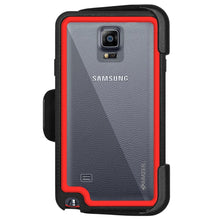 Load image into Gallery viewer, AMZER CRUSTA Rugged Case Black on Red Shell Tempered Glass with Holster for Samsung GALAXY Note 4 SM-N910