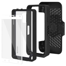 Load image into Gallery viewer, AMZER CRUSTA Rugged Case Black on Black Shell Tempered Glass with Holster for Samsung GALAXY Note 4 SM-N910