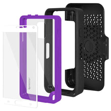 Load image into Gallery viewer, AMZER CRUSTA Rugged Case Black on Purple Shell Tempered Glass with Holster for Samsung GALAXY Note 4 SM-N910