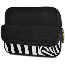Load image into Gallery viewer, AMZER 7.75 Inch Neoprene Zipper Sleeve Pouch Tablet Bag - Zebra Stipes