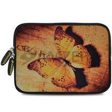 Load image into Gallery viewer, AMZER 7.75 Inch Neoprene Zipper Sleeve Pouch Tablet Bag - Butterfly Map
