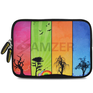 AMZER 7.75 Inch Neoprene Zipper Sleeve Pouch Tablet Bag - Seasons