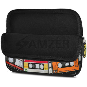 AMZER 10.5 Inch Neoprene Zipper Sleeve Pouch Tablet Bag - Audio Cassette Scatter