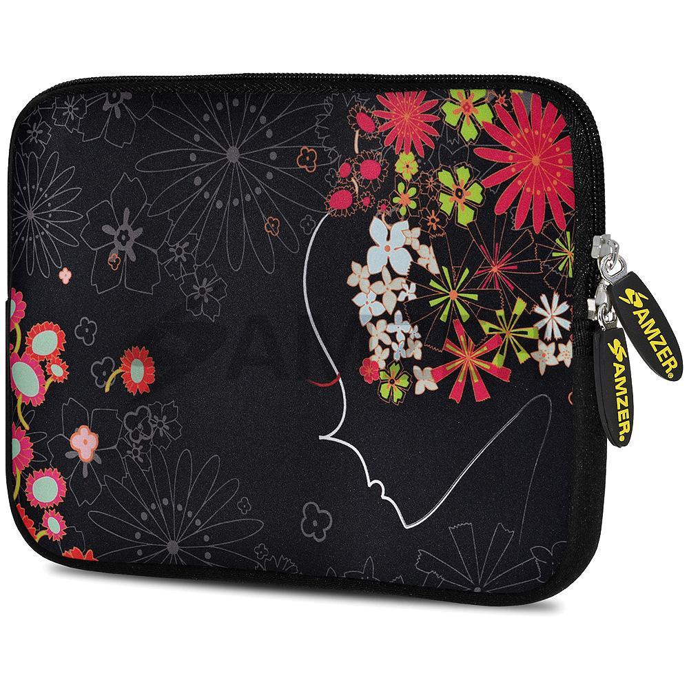 AMZER 10.5 Inch Neoprene Zipper Sleeve Pouch Tablet Bag - Flora Fantasy
