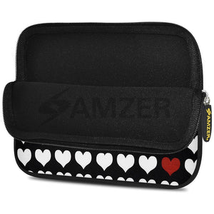AMZER 7.75 Inch Neoprene Zipper Sleeve Pouch Tablet Bag - Forget Me Not