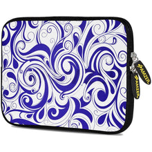 Load image into Gallery viewer, AMZER 10.5 Inch Neoprene Zipper Sleeve Pouch Tablet Bag - Blue Elegance
