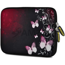 Load image into Gallery viewer, AMZER 7.75 Inch Neoprene Zipper Sleeve Pouch Tablet Bag - Butterfly Garden