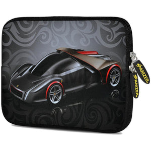 AMZER 10.5 Inch Neoprene Zipper Sleeve Pouch Tablet Bag - Racer Swirl