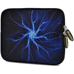 AMZER 10.5 Inch Neoprene Zipper Sleeve Pouch Tablet Bag - Aqua Neuron
