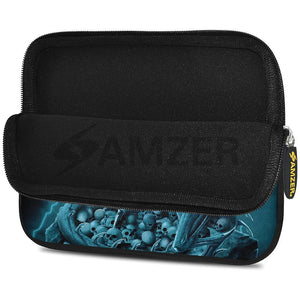 AMZER 10.5 Inch Neoprene Zipper Sleeve Pouch Tablet Bag - Teal Dragon