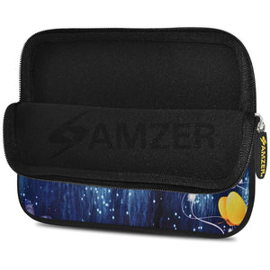 AMZER 10.5 Inch Neoprene Zipper Sleeve Pouch Tablet Bag - Butterfly Dream