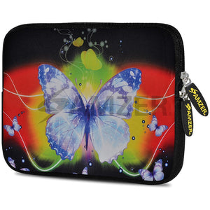 AMZER 10.5 Inch Neoprene Zipper Sleeve Pouch Tablet Bag - Caribbean Butterfly