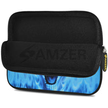 Load image into Gallery viewer, AMZER 10.5 Inch Neoprene Zipper Sleeve Pouch Tablet Bag - Blue Skull