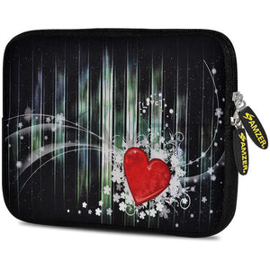 AMZER 10.5 Inch Neoprene Zipper Sleeve Pouch Tablet Bag - Red Heart
