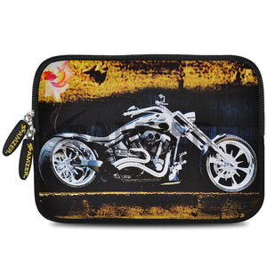 AMZER 7.75 Inch Neoprene Zipper Sleeve Pouch Tablet Bag - Ghost Rider