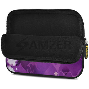 AMZER 7.75 Inch Neoprene Zipper Sleeve Pouch Tablet Bag - Purple Contessa