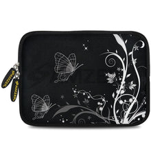 Load image into Gallery viewer, AMZER 7.75 Inch Neoprene Zipper Sleeve Pouch Tablet Bag - Black Butterfly