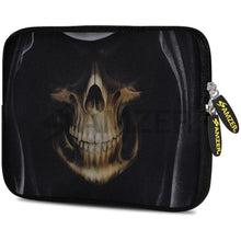 Load image into Gallery viewer, AMZER 7.75 Inch Neoprene Zipper Sleeve Pouch Tablet Bag - Skull Hood