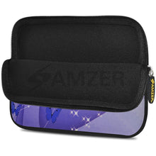 Load image into Gallery viewer, AMZER 7.75 Inch Neoprene Zipper Sleeve Pouch Tablet Bag - Butterfly Swish