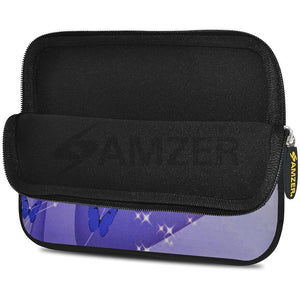 AMZER 7.75 Inch Neoprene Zipper Sleeve Pouch Tablet Bag - Butterfly Swish