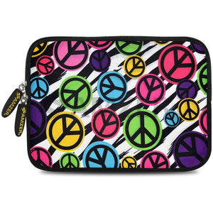 AMZER 10.5 Inch Neoprene Zipper Sleeve Pouch Tablet Bag - Peace United