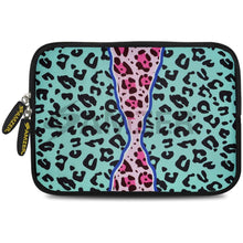 Load image into Gallery viewer, AMZER 7.75 Inch Neoprene Zipper Sleeve Pouch Tablet Bag - Blue Safari