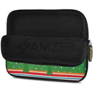 AMZER 7.75 Inch Neoprene Zipper Sleeve Pouch Tablet Bag - Elephant Salutes