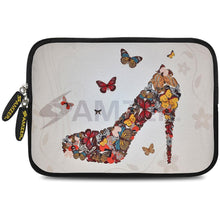 Load image into Gallery viewer, AMZER 7.75 Inch Neoprene Zipper Sleeve Pouch Tablet Bag - Butterfly High Heels