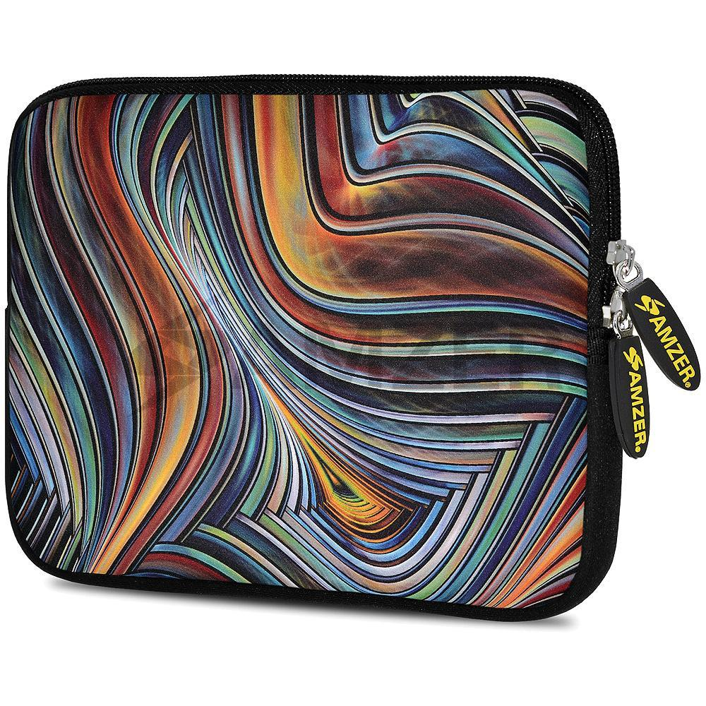 AMZER 10.5 Inch Neoprene Zipper Sleeve Pouch Tablet Bag - Vortex Lines