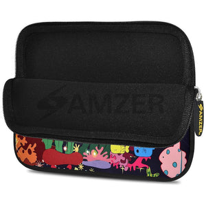 AMZER 7.75 Inch Neoprene Zipper Sleeve Pouch Tablet Bag - Sea Life