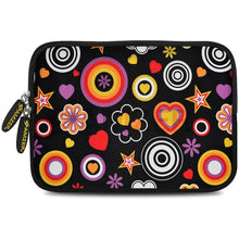 Load image into Gallery viewer, AMZER 7.75 Inch Neoprene Zipper Sleeve Pouch Tablet Bag - Retro Spheres