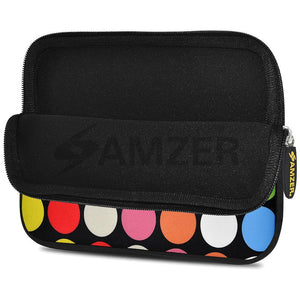 AMZER 10.5 Inch Neoprene Zipper Sleeve Pouch Tablet Bag - Dots Galore