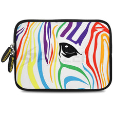 Load image into Gallery viewer, AMZER 7.75 Inch Neoprene Zipper Sleeve Pouch Tablet Bag - Zebra Colour Stripes
