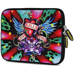 AMZER 7.75 Inch Neoprene Zipper Sleeve Pouch Tablet Bag - Love Hardy