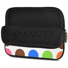 Load image into Gallery viewer, AMZER 7.75 Inch Neoprene Zipper Sleeve Pouch Tablet Bag - Colour Circles