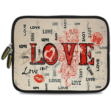 Load image into Gallery viewer, AMZER 7.75 Inch Neoprene Zipper Sleeve Pouch Tablet Bag - Enchanted Love