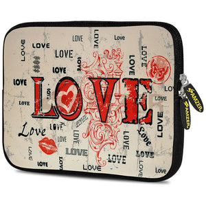 AMZER 10.5 Inch Neoprene Zipper Sleeve Pouch Tablet Bag - Enchanted Love