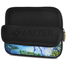 Load image into Gallery viewer, AMZER 10.5 Inch Neoprene Zipper Sleeve Pouch Tablet Bag - Silver Moon Horse