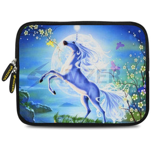 AMZER 10.5 Inch Neoprene Zipper Sleeve Pouch Tablet Bag - Silver Moon Horse