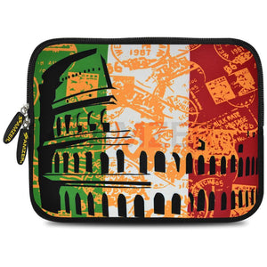 AMZER 7.75 Inch Neoprene Zipper Sleeve Pouch Tablet Bag - Colosseum
