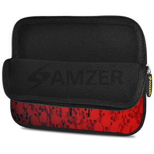 AMZER 7.75 Inch Neoprene Zipper Sleeve Pouch Tablet Bag - Red Field Girl