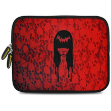 Load image into Gallery viewer, AMZER 7.75 Inch Neoprene Zipper Sleeve Pouch Tablet Bag - Red Field Girl