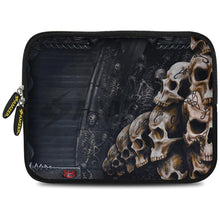 Load image into Gallery viewer, AMZER 10.5 Inch Neoprene Zipper Sleeve Pouch Tablet Bag - Skulls Stack