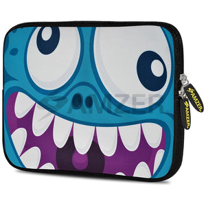 AMZER 7.75 Inch Neoprene Zipper Sleeve Pouch Tablet Bag - Wicked Laughter