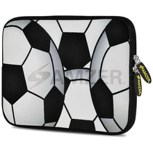 Load image into Gallery viewer, AMZER 7.75 Inch Neoprene Zipper Sleeve Pouch Tablet Bag - Football World